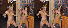 Cancun Cantina - Halloween '10 (starg82343) Tags: costumes ladies woman sexy halloween beautiful lady female bar club fun stereoscopic stereogram 3d crosseye women pretty gorgeous brian fine makeup dressup celebration indoors stereo fantasy linda wallace inside stereopair gals johanna depth built stacked ashlee skimpy pretend stereoscopy stereographic freeview crossview brianwallace xview stereoimage xeye cancuncantina stereopicture