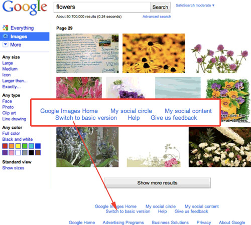 Switch Back To The Old Google Image Design - Search Engine Land