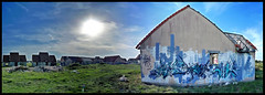 Pirou ambiance (PGC blog) (Thias (-)) Tags: terrain streetart beach wall painting graffiti mural village spray urbanart painter normandie graff aerosol bombing spraycanart abandonned ambiance ghostvillage pgc thias palge photograff c3p frenchgraff ecloz darkelixir photograffcollectif