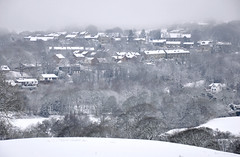 Broadbottom winter (Greg.w2) Tags: uk trees winter england white snow cold english countryside december view rooftops snowy freezing blizzard 2009 d90 broadbottom