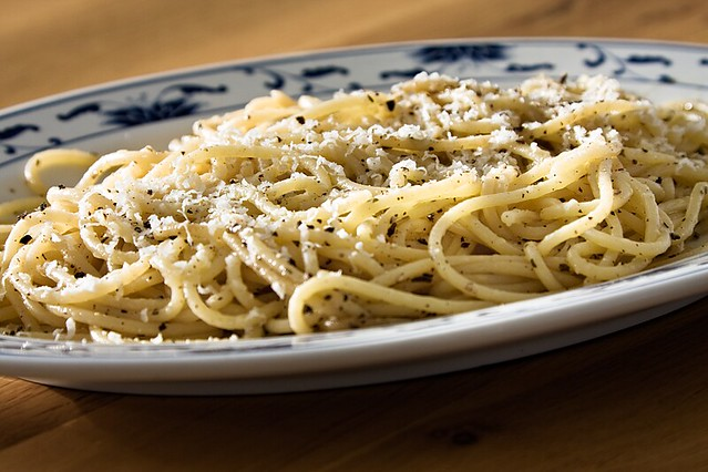 Spaghetti with Olive Oil and Parmigiano-Reggiano