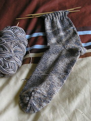 My first toe-up sock