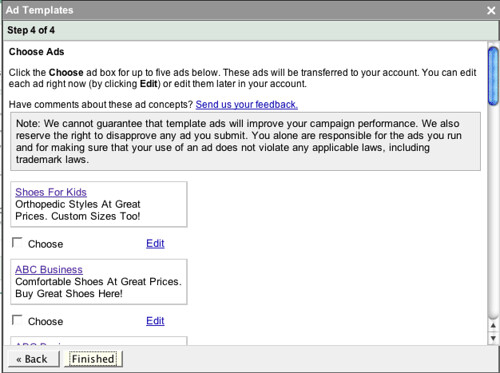 Adwords Ad Text Ideas Beta Tool