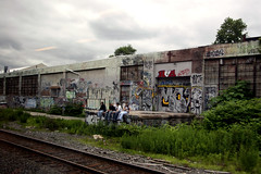 3boys,agirl&somegraff (damonabnormal) Tags: urban art philadelphia june graffiti ruins candid tags gritty spray urbanruins spraypaint tagging 07 2007 urbanruin philadelphiastreetart philadelphiagraffiti philadelphiaurbanart