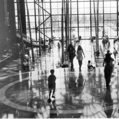 Winter Garden, World Financial Center (Frizztext) Tags: 2001 blackandwhite usa newyork square blackwhite unitedstates manhattan 911 galleries wintergarden worldfinancialcenter nineeleven septembereleven frizztext anawesomeshot