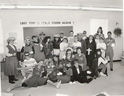 Our junior class on dress-up day 1990