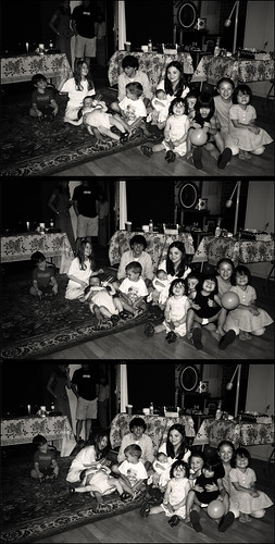 H.o.p. and my Nieces and Nephews Gather for a Group Pic at my Bday Party