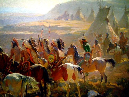 The Conquest of the Prairie - detail