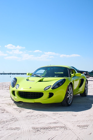 florida beach wallpaper. Our 2005 Lotus Elise at the beach in Clearwater Florida. iPhone wallpaper.