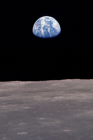 Earth from the moon iPhone wallpaper by The Pug Father.