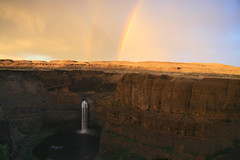 Palouse Falls Rainbow (Coral Rose '76) Tags: nature water landscape waterfall washington rainbow falls palouse