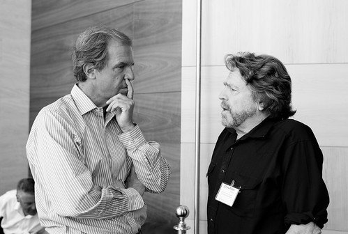 Nicholas Negroponte and John Perry Barlow