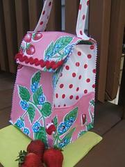 Strawberry Dot Lunch Bag 006