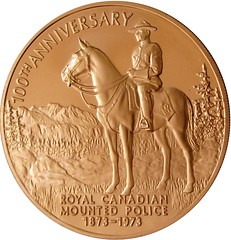Bronze Franklin Mint RCMP 100th Anniversary 1973 - by kevindooley