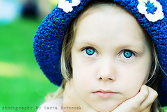 Fall into the blue :) (Marta Potoczek) Tags: blue portrait color girl eyes d200 actions martas dazzler aplusphoto