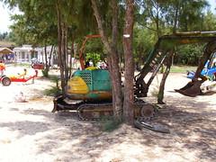 沙灘小挖土機