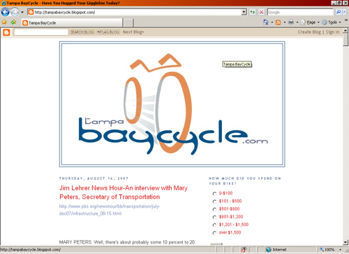 Tampa BayCycle Blog homepage