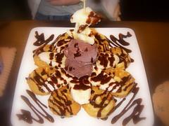香蕉巧克力鬆餅