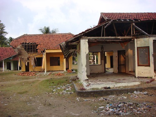 The damages after the 2006 tsunami that hit Pangandaran hard is still very visible in some places...
