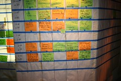 The Grid is the unconference way of organising the schedule. Photo Credit: Tara Hunt (via Flickr).