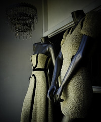 fashioned (nardell) Tags: mannequin fashion vintage mannequins dress textures pa chandelier dresses storefront windowdisplay manayunk lightroom buttery fashioned dressesdesignedbypaulahian paulahian
