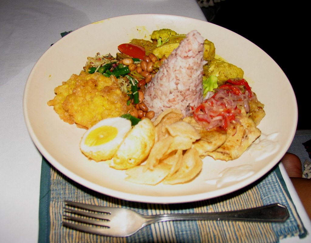 Nasi campur at Komang John Cafe
