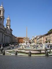 Path of Illumination - Water - Bernini's Fountain of the Four Rivers (solsticeoverslept) Tags: italy brown rome dan fountain four angels rivers bernini locations demons langdon illumiati