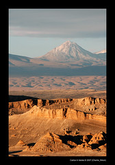 Valley of the Moon (Carlos A Varela) Tags: chile sunset sky landscape volcano nikon desert d70s atacama isawyoufirst