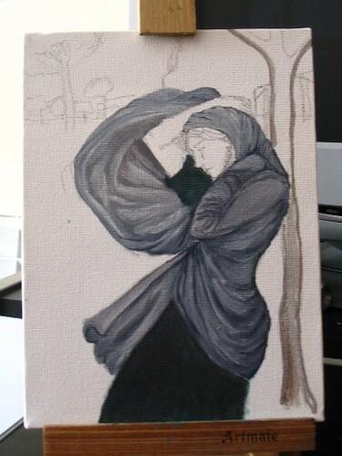 pintura boreas oleo