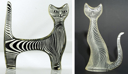 Cat Sculptures by Abraham Palatnik