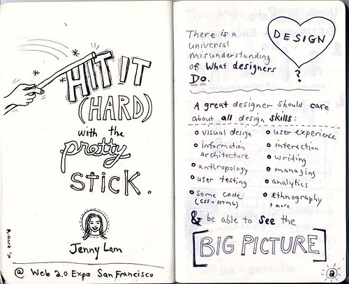 My Sketchnotes from Web 2.0 Expo session (p. 1-2)