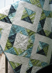 Neptune Quilt, closer view (teaginny) Tags: quilt neptune hst honeybun tulapink