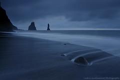 Neptune's Sentinels - Vik, Iceland (cedric_g) Tags: ocean longexposure cliff black beach rock dark landscape iceland sand nikon moody wave vik hitech pinnacles midnightsun reynisdrangar d3x nikond3x visipix icelandlandscapenikonnikon cedricguilleminotphotography