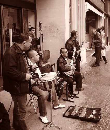 Música callejera en Trieste