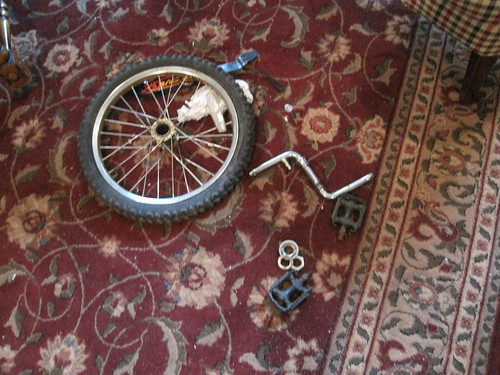 Yes, those are bicycle parts on my family room floor