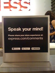 In-Store Sign Promoting Reviews