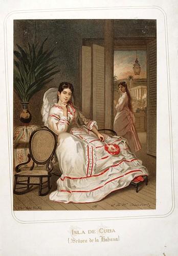 001-Isla de Cuba-Señora de la Habana-Las Mujeres Españolas Portuguesas y Americanas 1876-Miguel Guijarro