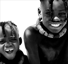 Two Himba Boys (gunnisal) Tags: world africa portrait people child faces culture namibia flickrsbest favekids