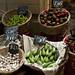 Ceste con verdura nel Mercado Cardonal