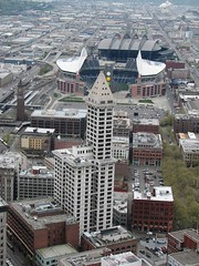 Smith Tower - Qwest Field - Safeco Field (Stones 55) Tags: seattle usa washington landmark smith qwestfield safecofield 1914 neoclassicism pioneersquare smithtower occidentalpark kingstreetstation neoclassic seattlelandmark gagginandgaggin gaggingaggin edwinhgaggin twalkergaggin lymancorneliussmith lymansmith seattlelandmarkspreservationboard