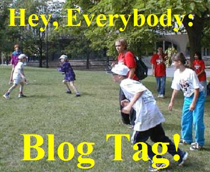 Image representing the game of blog tag