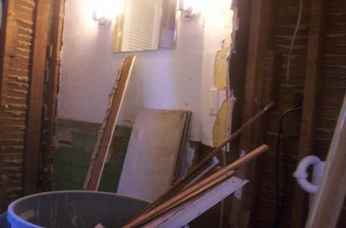 Bathroom Demo Mess