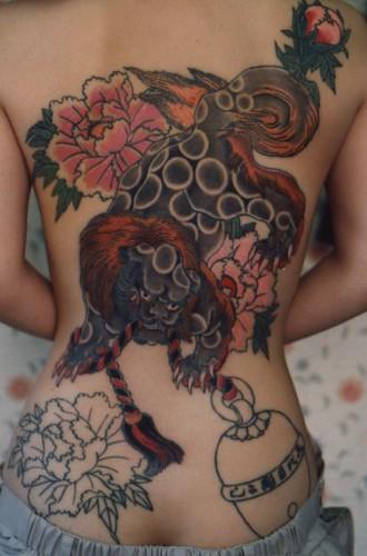 Women Art Tattoo Design in The Body,Flower Tattoo,Art Body Painting
