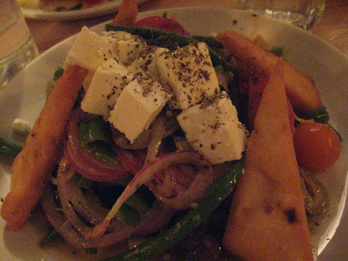 Tomato, Green Bean and manouri salad at Kefi