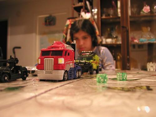 Maria contemplates what she should have Optimus Prime do...