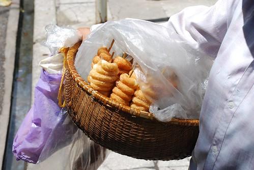 street doughnut skewers