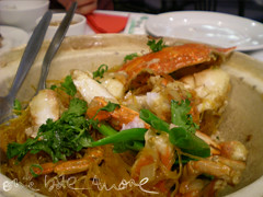 crab with tunghoon poststirring