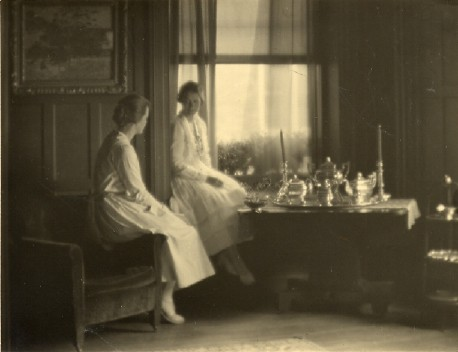 In the parlor in the 1920s