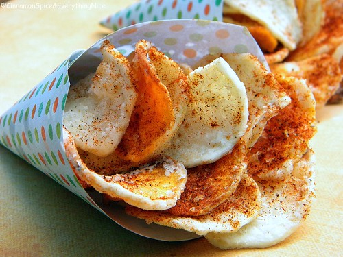 Spicy Sweet and White Potato Chips