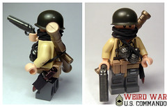 Weird War - U.S. Commando (. soop) Tags: world two bronze weird us war lego mr ww2 bazooka shotgun custom commando sheath soop brickarms brickforge